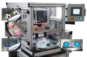 Automated Stress Ball Printer produces up to 3,000 parts/hr.