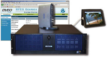 Transcoder/Scaler/Streamer delivers multiformat support.