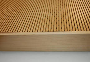 Acoustical Wood Panels feature perforated surface design.