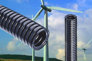 Corrugated Cable Tubes protect wind turbine cables.