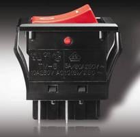 Sealed IP67 Rocker Switches handle large inrush currents.