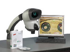 Stereo Microscope offers 2 software options for 2D measurement.