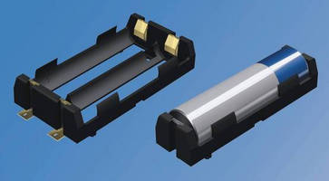 Low-Profile Battery Holders accommodate 18650 cells.