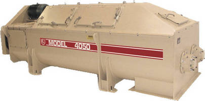 Pin-Paddle Mixer/Unloader aids high-calcium ash conditioning.