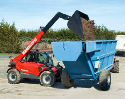 Telescopic Handler provides max life height of 19 ft, 3 in.