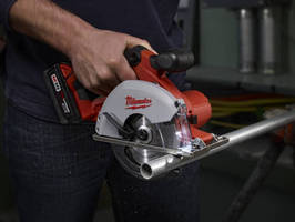 Cordless Metal Saw features 4-pole frameless motor.