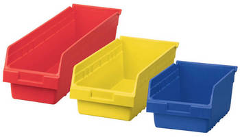 Plastic Storage Bins optimize storage capacity, use of space.