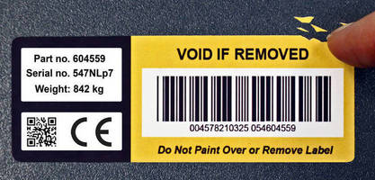 Tamper Evident Label destructs upon attempted removal.