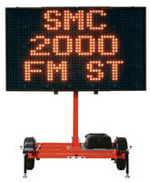 Solar-Powered Message Display meets MUTCD requirements.
