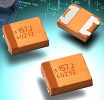 Tantalum Polymer Capacitors offer high CV rating, low profile.