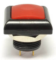Illuminated Square Pushbutton comes in metal die cast housing.