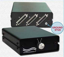 DB25 A/B Network Switch features hardware for secure grounding.
