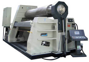 Plate Rolling Machines have hydraulic, 3-roll design.