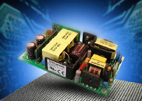 Open-Frame AC/DC Power Supplies deliver 100 W.