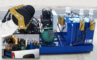 Portable Lubrication System serves large industrial plants.
