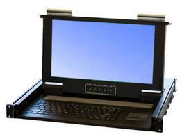 Rackmount 1U Monitor-Keyboard Drawer has short, 16 in. depth.