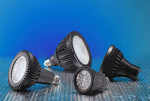 Dimmable PAR LED Bulbs offer energy consumption down to 7 W.