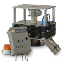 Metal Separator removes metal particles from plastic regrind.