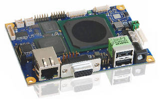 Embedded SBC features AMD Geode LX800 processor.