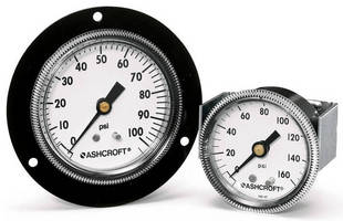 Ashcroft® 1001T Panel Gauge Resists Shock, Vibration and Pulsation