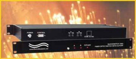 Fiber Optic Switch/Converter allows fiber-to-copper network connection.