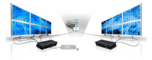 KVM Extender Software supports up to 16 displays from one PC.