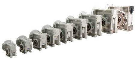 Right Angle Worm Gearboxes are durably constructed of aluminum.