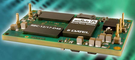 DC/DC Bus Converter serves distributed power applications.