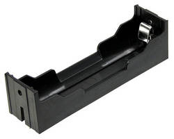 Li-Ion Battery Holders accept 18650 rechargeable batteries.