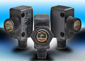 Photoelectric Sensors are offered in 18 mm rectangular models.