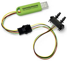 DP Sensor Evaluation Kit connects directly to computer.