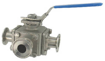 Sanitary Ball Valve features 1,000 psi pressure limit.