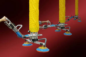 Vacuum Tube Lifter offers capacities up to 650 lb.