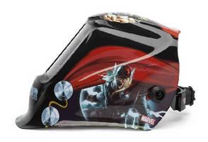 Auto-Darkening Welding Helmet features Marvel Thor graphics.