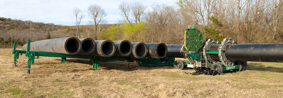 Pipe-Handling System facilitates jobsite pipe storage.