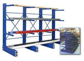 Cantilever Racking is based on modular bays and fittings.