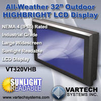 Industrial Widescreen LCD features sunlight-readable design.