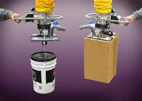 Vacuum Tube Lifter features suction pads and hook.