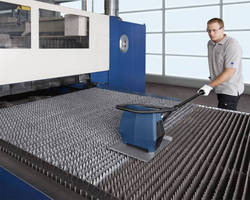 Slat Cleaner is used on flatbed laser machines.