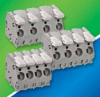 PCB Terminal Strips provide lever operated terminations.