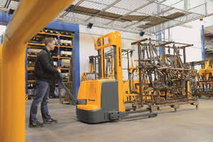 Electric Walkie Stacker utilizes 3-phase AC drive system.