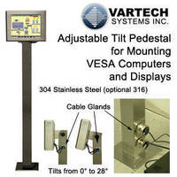 Adjustable Tilt Pedestal for Mounting VESA Computers and Displays