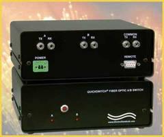 Fiber Optic ST Duplex A/B Switch supports dual wavelengths.
