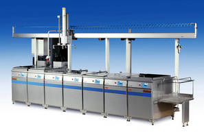 Ultrasonic Cleaning System offers manual or automatic operation.