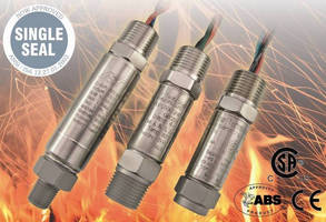 Explosionproof Pressure Transmitters operate over wide pressure range.