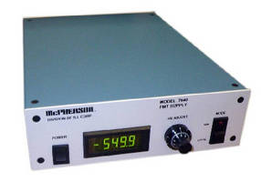 Power Supply produces regulated, high voltage output.