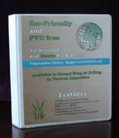 PVC-Free Binders are eco-friendly and 100% recyclable.