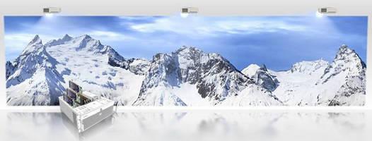 Graphics Board delivers soft edge blending via overlap support.