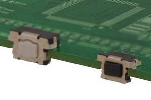 Tact Switches feature board edge mounting design.