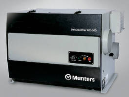Munters HC-150, HC-300 Industrial Dehumidifacation Units Receive ETL Compliance